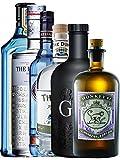 Mega Gin Set 1 x Bombay Sapphire Gin 0,7 Liter, 1 x The Botanist Islay 0,7 Liter, 1 x The Duke Dry BIO Gin 0,7 Liter, 1 x Citadelle Gin 0,7 Liter, 1 x Black Gin Gansloser 0,7 Liter, 1 x Monkey 47 Schwarzwald Dry Gin 0,5 Liter