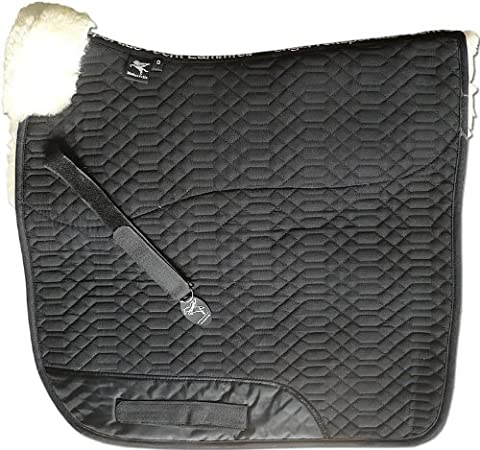 ENGEL GERMANY Sheepskin Square Saddle Pad Saddlecloth cloth colour black lambskin colour brown (Schabra 1 Half-Lined) colourful: combinable with 12 lambswool colours! Dressage (D)