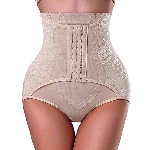 Gotoly Damen Taillenhosen Cincher Trainer Taille und Oberschenkel Shaper Erweiterter Boyshorts (L, Beige) Po Slip Plus-größe