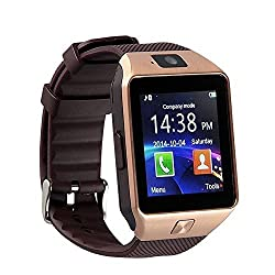 eCosmosTM Bluetooth Smart Watch Phone With Camera and Sim Card Support With Apps like Facebook and WhatsApp Touch Screen Multilanguage Android/IOS Mobile Phone Wrist Watch Phone with activity trackers and fitness band features compatible with Samsung IPhone HTC Moto Intex Vivo Mi One Plus and many others