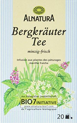 Alnatura Bio Bergkräutertee, 20 Beutel, 6er Pack (6 x 35 g)