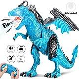 joylink Dinosaurier Spielzeug, Fernbedienung Dinosaurier Spielzeug mit Gehen, simuliertem Brüllen, Sprühen, Kopfschütteln