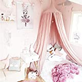 SHAREWIN Betthimmel, Block Out Licht Dome Princess Moskitonetz Equip mit Montage Werkzeug, Baumwolle, height-95 Zoll, Pink