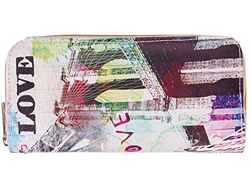 Portafoglio per donne con chiusura zip motivi diversi borsellino portamonete