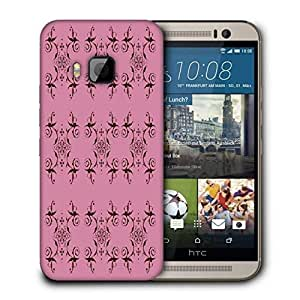 Snoogg Abstract Cream Pink Pattern Printed Protective Phone Back Case Cover For HTC One M9