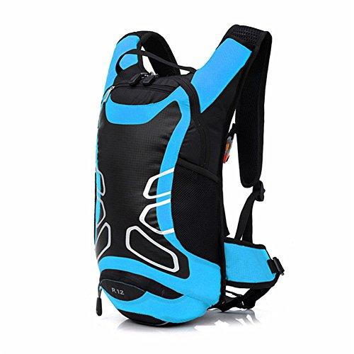 West Biking, Outdoor, Wandern Bergsteigen, Klettern Fahrrad Rucksack Daypacks Tasche, 12 L, atmungsaktiv, für unterwegs, erhältlich in 6 Verschiedenen Farben Blau - blau