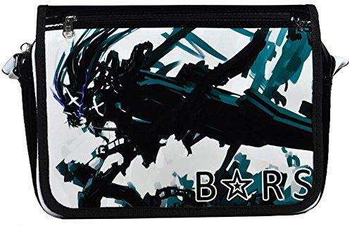 Siawasey anime giapponese Cartoon Cosplay messenger bag zaino borsa a tracolla (31modelli) nero Gintama Black Rock Shooter1