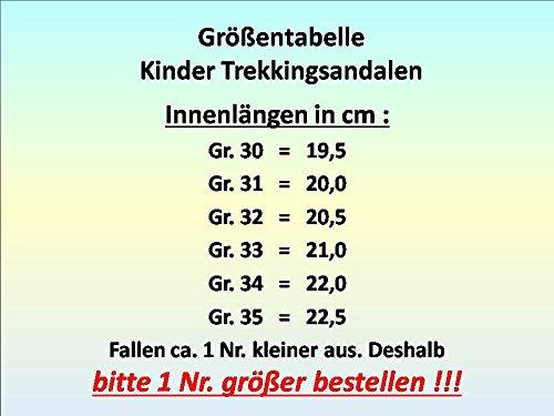 gibra , Sandales pour garçon schwarz/grau/neongrün
