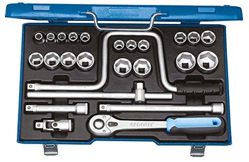 GEDORE 19 TMU-10 Steckschlüssel-Satz 1/2″ 25-TLG 10-32 mm