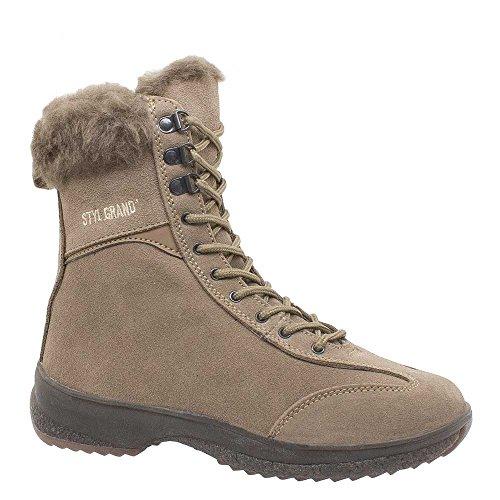 Styl Grand - 3203 - Chaussures en suede Femme Beige
