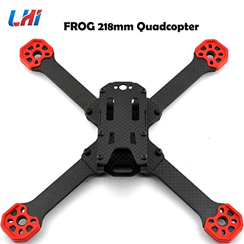 LHI TransTEC Frog Lite Frame Aluminum Mini 218mm X Quadcopter Frame Kit for DIY RC FPV Racing Drone High-Strength Lightweight F21375