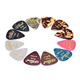 ammoon Alice AP-12 K 12 pc / Pacchetto Caldo-timbratura Guitar Picks Plettro Mix calibri 0,46 mm/ 0,71 mm / 0,81 mm (colore casuale)