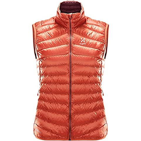 Haglöfs Essens III Down Gilet de plume – Femme M Multicolore - rouge (dusty rust/aubergine)