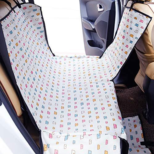 ücksitzbezug Wasserdicht & Kratzfest & Rutschfeste Pet Car Seat Protector Hund Reise Hängematte Rücksitz (Farbe : Weiß, größe : One size) ()