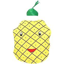 Petitebelle Use la piña del traje del partido Unisex Adult Clothing Un tamaño Amarillo