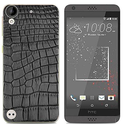 Yrlehoo Für HTC Desire 650, Premium softe Silikon Schutzhülle für HTC Desire 650 Tasche Case Cover Hülle Etui Schutz Protect, Krokodil-Muster