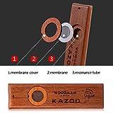 Tbest Partenaire de Guitare ukulélé Kazoo en Bois Vintage Facile à Apprendre l'instrument de...