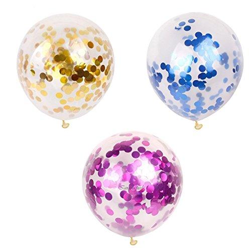 ILOVEDIY 15 Stück Leuchtende Luftballons Led blau gold rosa Weihnachten Geburtstag Halloween Christmas Hochzeit Party