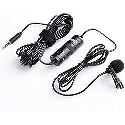 BOYA BY-M1 omnidireccional Micrófono de condensador de 20 pies Audio Cables Compatible con réflex digitales Videocámaras Cámaras de vídeo / Smartphone