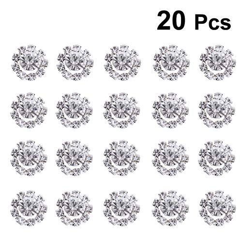 SUPVOX 20pcs Flatback Runde Strass Craft Crystals Faux Diamanten für Schmuck machen Tisch Scatter Hochzeit Bridal Shower Dekorationen