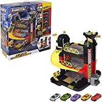 Teamsterz 3 Level Tower Garage + 5 Die-cast Cars   Kids Playset Toy Vehicles Great For All Children Boys & Girls Aged 3+