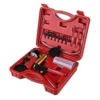 GOTOTOP Hand Held Brake Bleeder Tester Set Bleed Kit Vacuum Pump Car Motorbike Bleeding with a Red Carrying Case