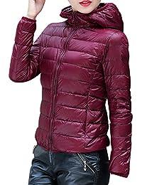 Kasen Giacca da Donna Corto Piumino di Inverno Cappotto Parka Manica Lunga  Incappucciato e8c10d8f4fa