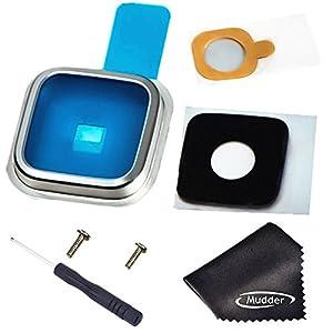Mudder Reparatur Samsung für Samsung Galaxy S5SV I9600G900G900A G900T G900V G900P G900F G900H G900i Ersatz Linse der Kamera + Werkzeug -- silber