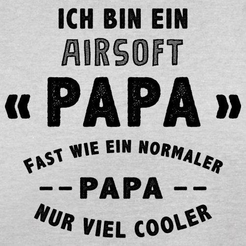 Ich bin ein Airsoft Papa - Herren T-Shirt - 13 Farben Hellgrau