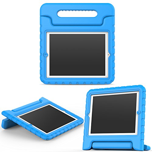 MoKo Funda para iPad 2/3 / 4 - Material EVA Lightweight Kids Shock Proof Protector Cover Case con Manija para Apple iPad 2/3 / 4 9.7 Pulgadas Tableta, Azul