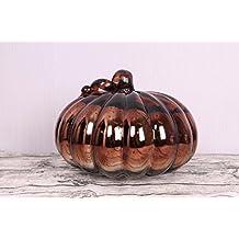 New day®-Vetro ornamenti di casa simulazione artigianato elettronico decorazioni candela zucca supporto da tavolo vetro ornamenti , 23 pumpkin coffee color 30*30*23