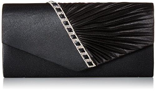 Damara Elegant Strassstein Damen Abendtasche Handtasche,Schwarz (Satin Abendtasche Handtasche)