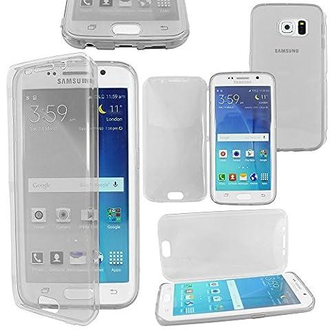 ebestStar - pour Samsung Galaxy S6 edge SM-G925F G925 - Housse Etui Coque Silicone Gel Portefeuille, Couleur Transparent [Dimensions PRECISES de votre appareil : 142.1 x 70.1 x 7 mm, écran 5.1'']