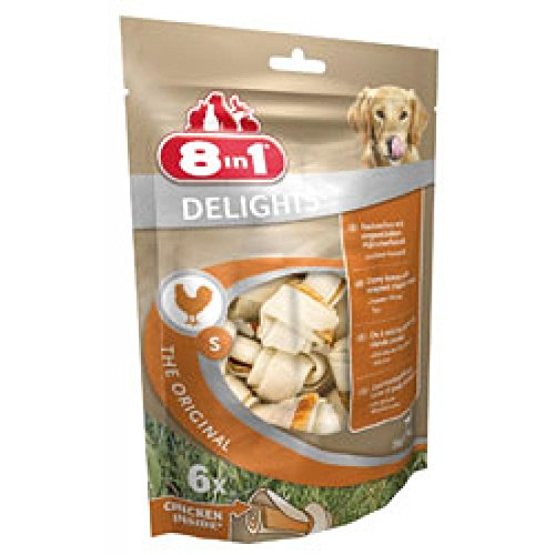 Record Freuden Hund klebt Snacks behandelt Huhn mit natürlichen Rohhaut und keine künstlichen Farbstoffe oder Aromen, 6 Packungen mit 6