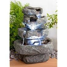primrose shubunkin fuente con cascada a 4 niveles con iluminacin led 36 x 25