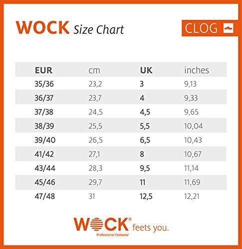 WOCK  Wock Clog, Mules mixte adulte - Orange/Weiß