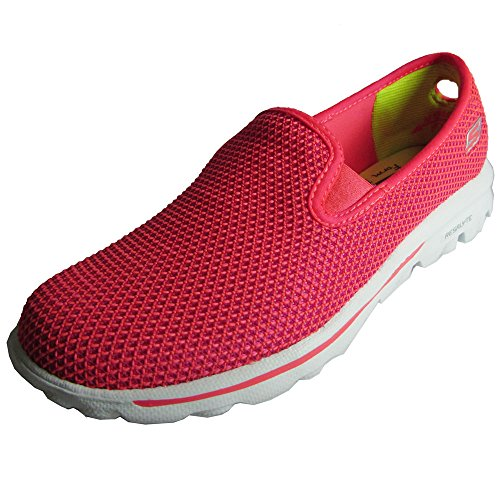 Skechers Womens Go Marche Dazzle 13786 Slip On Loafer Shoe Hot Pink