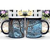 LeeQueen Magica Taza - Calor Reactiva Cambia de Color Taza de Café - Sol en la Cueva de Hielo, Belice Milagrosamente Muestran - El Mejor Regalo de Ideas de Su Elección