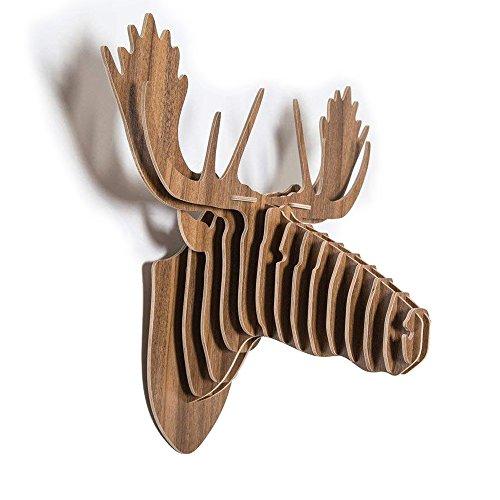 QIANGUANG® Alce Ciervo Cabeza Pared Colgando Woodcraft