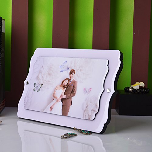 Coreano pendolo di cristallo tabella coreano mickey mouse in porcellana cornice foto matrimonio foto baby ingrandimento appeso a parete personalizzazione stampa 10 pollice lilla strass swarovski
