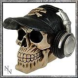 Totenkopf mit Mütze und Kopfhörer Happy Cappie Spardose 16,5cm Nemesis Now