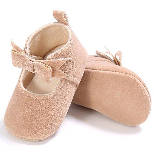 Estamico, Chaussures premiers pas pour bébé fille, Mary Jane Beige