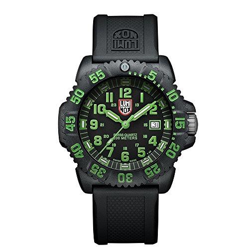Luminox Navy SEAL Colormark LU3067 Reloj de pulsera Cuarzo Hombre correa de Caucho Negro