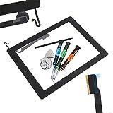 Trop Saint® Touchscreen Digitizer Für Apple iPad 4 Glas Display Scheibe in Schwarz