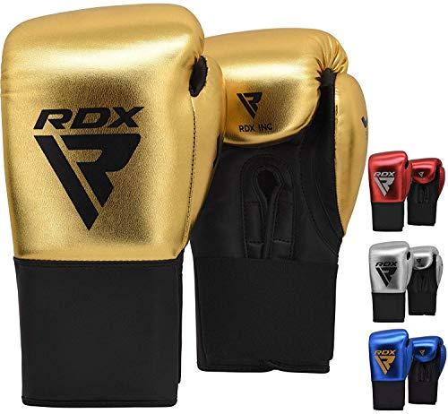 RDX Boxhandschuhe Kinder für Muay Thai & Training | Convex & Metallic Leder Punchinghandschuhe | Gut für Kampfsport, Kickboxen, MMA, Sparring, Boxsack, Sandsack Junior Boxing Gloves (MEHRWEG)