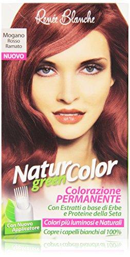 Rene Blanche - Natur Color Colorazione Permanente Mogano Rosso Ramato, con Estratti a Base di Erbe e Proteine della Seta