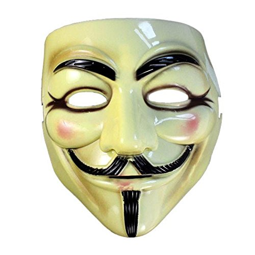 Maske Loveso Cool Halloween Mask Anonymous V For Vendetta Face Guy Fawkes Fancy Dress Party - Diy Mädchen Halloween-kostüm