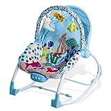 Asalvo Evolutiva - Hamaca para bebé, diseño Mar, color celeste