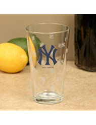New York Yankees 16 Oz Satin Etch Glass By Boelter Brands by Boelter Brands