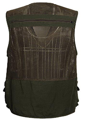 Gilet GLF Mesh Vest Multi-tasca Da Pesca Outdoor Mountain Hatchback Vest Green